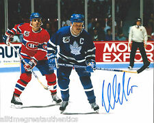 TORONTO MAPLE LEAFS WENDEL CLARK SIGNED 8X10 PHOTO W/COA WENDELL VINTAGE E