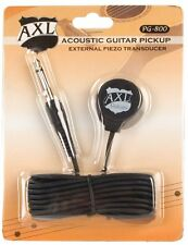 AXL Acoustic Guitar Transducer Pickup with 1/4 Jack and 9 Foot Cable, New