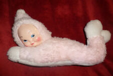 VINTAGE PINK PLUSH PLASTIC RUBBER FACE MASTER DOLL BEAR FR OLD RUSHTON MYTOY LOT