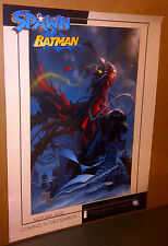 SPAWN & BATMAN NYCC EXCLUSIVE RARE GREG CAPULLO TODD MCFARLANE POSTER ROLLED NEW