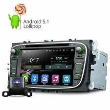 Camera+ Head Unit Android 5.1 Car DVD GPS Player BT WiFi for Ford Focus Mondeo R