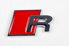 Audi 'R' Badge Logo Car Emblem Decal Self Adhesive Boot Door 3 S3 S4 S Line -AR1
