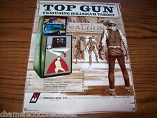 TOP GUN By MIDWAY 1976 NOS ORIG RIFLE ARCADE GAME MACHINE SALES FLYER BROCHURE