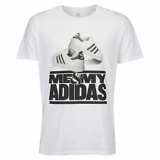 ADIDAS Me & My Adidas T-Shirt sz S Small White Shelltoe Superstar Stripes DMC