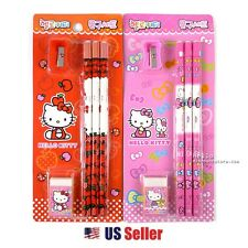 Sanrio Hello Kitty 3pcs Pencil Eraser Pencil Sharpener Stationery Set (Random)