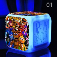 Hot!! Colorful Colors Alarm Clock FNAF Five 5 Nights at Freddy's LED Alarm Clock
