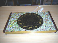 WARM O TRAY ZODIAC SIGNS / PAISLEY DESIGN HOT PLATE CASSEROLE WARMER # 60