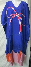 Beautiful Batik  Caftan Kaftan hand drawn fuji rayon long dress