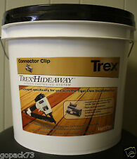 Trex Hideaway GUN PAIL Metal Connector Clips, Hidden Fasteners, 500 SqFt Bucket