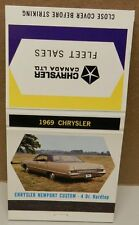 CHRYSLER 1969 NEWPORT CUSTOM CANADA MATCH BOOK COVER MOPAR DEALERSHIP