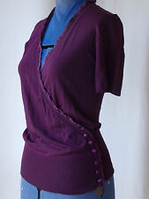 NWT Womens Wrap Look Short Sleeve KATIES Top S 8 Size 10 Shirt Blouse Ladies NEW
