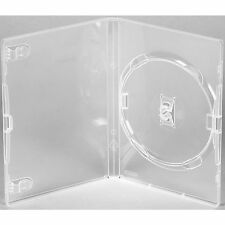 10 X Genuine Clear Amaray Single DVD Cases