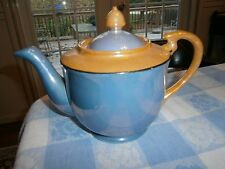 Blue and Peach Luster-ware Teapot 1920's Japan