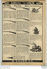 1913 PAPER AD Daisy Air Rifle BB Gun Dart Cork Pop Gun Rifles