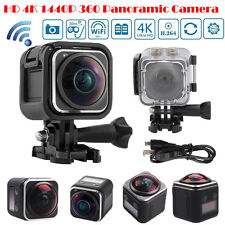 HD 4K 1440P WIFI Action Sports Camera Panoramic 360° DV Waterproof Camcorder