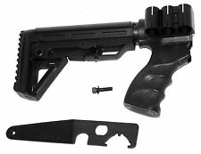 6 Position Tactical Stock for REMINGTON 870 12 Gauge Shotgun Pistol Grip black