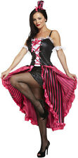 Sexy Can Can Burlesque Moulin Rouge Fancy Dress Costume Size 12 - 14 P8125