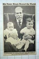 1921 Mr Charles E Hughes, Proposal To Destroy 70 Fighting Ships, With Grandchild