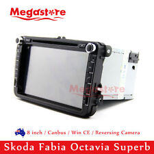 "8"" Car DVD Indash Radio GPS Nav For Skoda Fabia Octavia Superb"