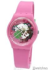 New Swiss Swatch Originals Flowerfull Pink Silicone Women Watch 34mm GP147 $65