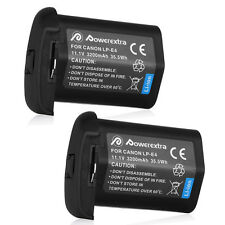 2 x LP-E4 LPE4 Battery 3200mAh For Canon SLR EOS-1D X 1DX 1D 1Ds Mark 3 III IV 4