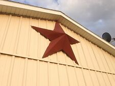70''Rusted*Metal*Star*Barn*Old*Roof*Rusty*Sign*Red*Primitive*Unique