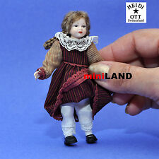 """XC015 Heidi Ott Doll House Victorian young girl dress hair 4""""H  1:12 outfit"""
