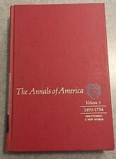Vintage Book, ANNALS OF AMERICA: Volume 1: 1493-1754, Encyclopedia Brittanica