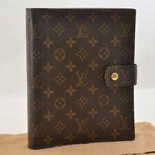 Authentic  Louis Vuitton Monogram Agenda GM Day Planner Cover R20006 #S3474