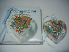 Hutschenreuther Kristall Herz Kristallherz Glasherz 1993 (meine Pos-Nr. 1993-1)