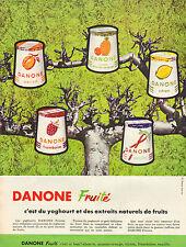 Publicité 1966  DANONE fruité yoghourt et extraits naturels de fruits