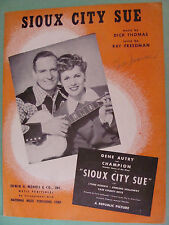 Sioux City Sue 1945 Gene Autry cover by Dick Thomas Ray Freedman