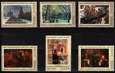 Russia 1975 Sc4350-5 Mi4384-9 2.4 MiEu 6v mnh Paintings by Russian Painters