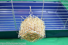 Grand hay cube cage mangeoire avec crochet rack/jouet pour lapin, chinchilla, cobaye
