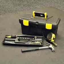 """16"""" PLASTIC TOOL BOX DIY STORAGE CARRY WITH HANDLE TRAY LOCKABLE STURDY TOOLBOX"""