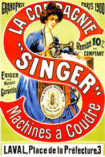 1900 Singer Sewing Machine Machines a Coudre 1900 French  11 x 17 Giclee Print