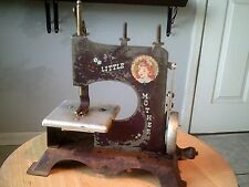 Little Mother Toy Sewing Machine Vintage rustic condition Free US shipping