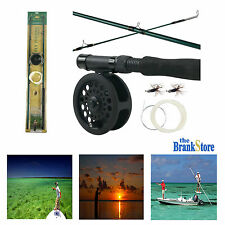 Fly Fishing Combo Kit Saltwater Rod Reel Freshwater Fish Line Flies Equipment