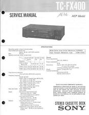 Sony Original Service Manual per TC-FX 400