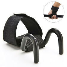 Wrist Support Gloves Wrap Hand Bar Straps Weight Lifting Training Gym Hook Black