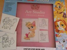 Disney Princess Palace Pets Art Studio Project Book Paints Drawing New in Box
