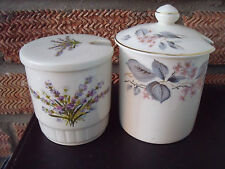 Two Jam Preserve Pots or Jars by Palissy & Crown Ducal