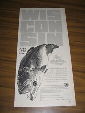1958 Print Ad Wisconsin Conservation Department Fishing from Musky to Pan Fish