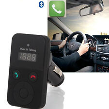 Bluetooth Hands-Free Car Kit FM Transmitter USB SD Card MP3 Player with Rem