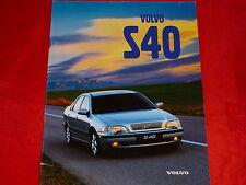 VOLVO S40 1.6 1.8 2.0 T4 TD Prospekt von 1998