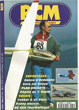 RCM N°172 PLAN : PEPITO / FOKKER D VII FLAIR / FUNNY HACKER /DG 600 THERMOFLUGEL