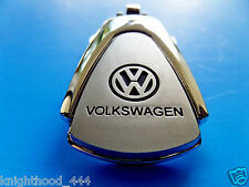 VW KEY CHAIN KEYRING CC EOS GTI GOL GOLF JETTA CADDY FOB BLUE LOGO EMBLEM NEW