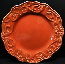 """JCP Home Chris Madden Corvella Red 9"""" Salad Plates Embossed Multiples Available"""