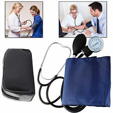 Blood Pressure Monitor Manual Stethoscope + Sphygmomanometer Nurse Equipment Kit