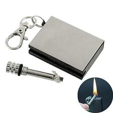 EDC Survival Fire Starter Hiking Flint Match Mini Lighter Kit Waterproof Keyring